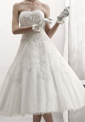 Joining hearts and hands for Oleg cassini wedding dress tea length