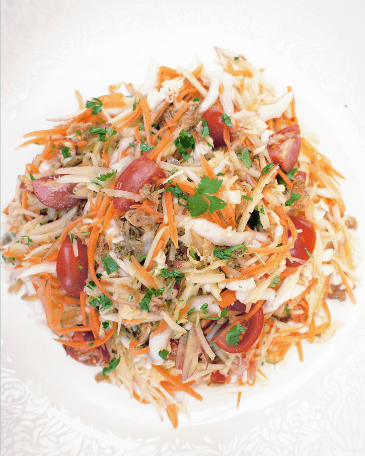 Apple, Carrot & Chinese Cabbage Salad with Vietnamese dressing