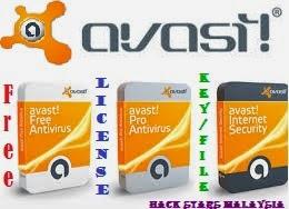 PC Avast Free IS Pro Antivirus License Key Files Sehingga 2016