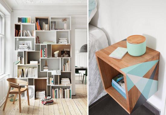 Blog de mbar muebles decorar con cubos es tendencia en 2015 - Estanteria recibidor ...
