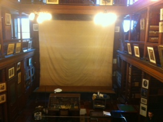 Art conservation of Edison's laboratory projection screen, historic sites, textile repair and restoration