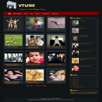 VTube blogger template. template video for blogger. blog video template