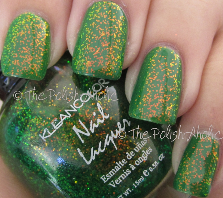 The PolishAholic: Kleancolor Chunky Holo Clover