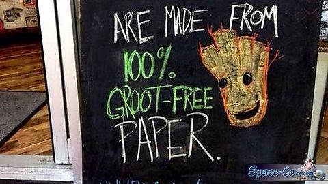 funny Groot sign picture