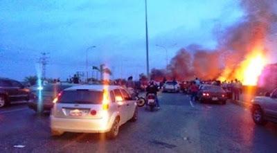 Higuerote estalló en protesta por 4 días de apagones y sin respuesta del gobierno