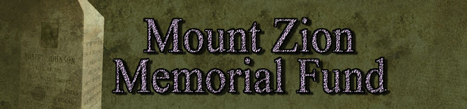 Mt. Zion Memorial Fund