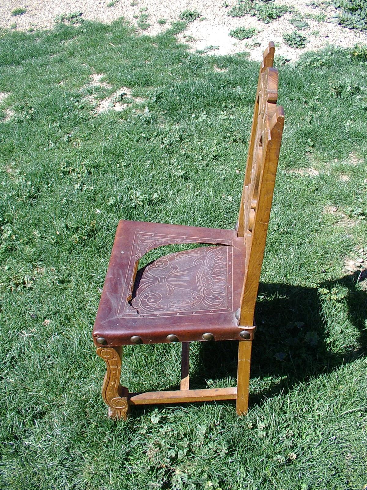 Artesania en cuero talabarte restauraci n de silla antigua - Restauracion de sillas ...