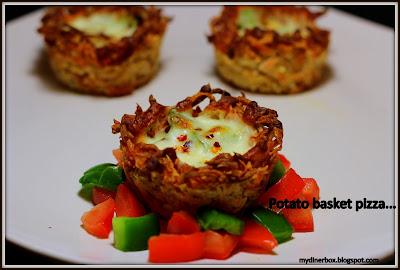 potato basket,pizza,potato snacks,basket recipe,indian recipe,pizza recipe,pizza snack,snacks