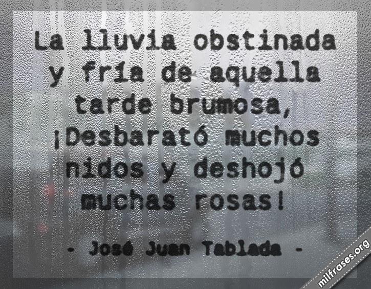 imágenes de lluvia, frases y libros de Jose Juan Tablada