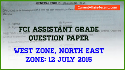 FCI Assistant Grade Question 2015