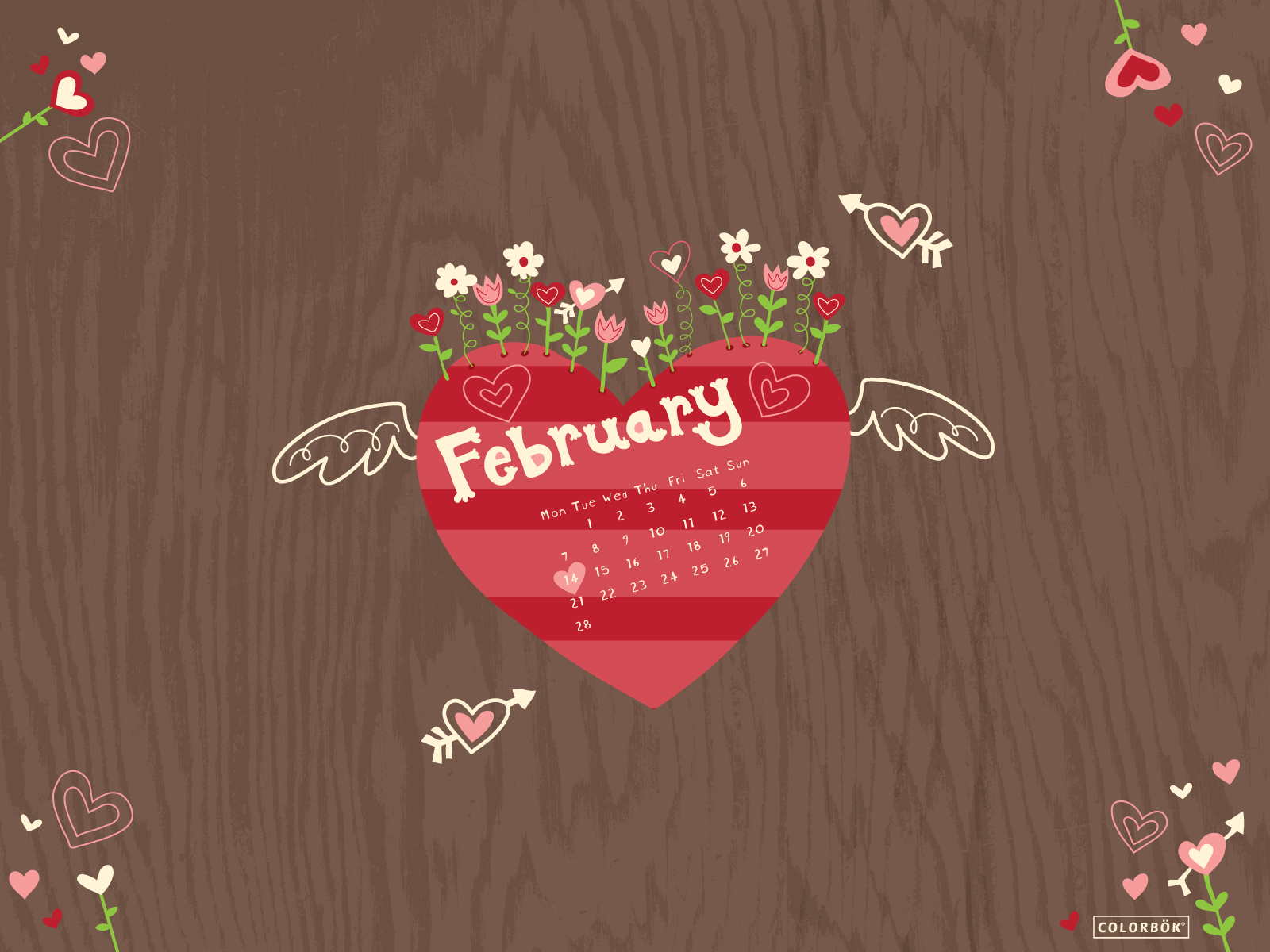 February Calendar Wallpaper Hd : February wallpapers calendar hd