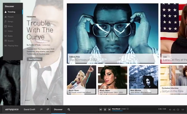 the new myspace, myspace, new look, new design, cool, awesome, myspace take over facebook, justin timberlake, musician, photographer, filmmaker, designer, dedicated fan, brand new community, social,