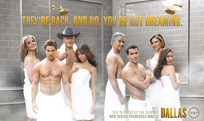 The cast of Dallas coming out the shower
