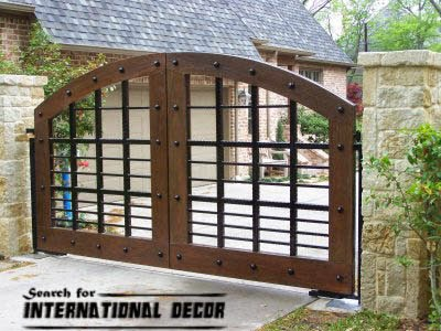 Gate designs, wooden gate designs for private house