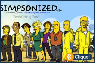 Personagens de Breaking Bad no estilo Simpsons