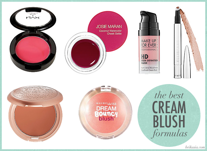 best cream blushes, NYX Cream Blush, Josie Maran Coconut Watercolor Cheek Gelee, Makeup Forever HD Microfinish Blush, Ellis Faas Blush, Stila Convertible Color, Maybelline Dream Bouncy Blush