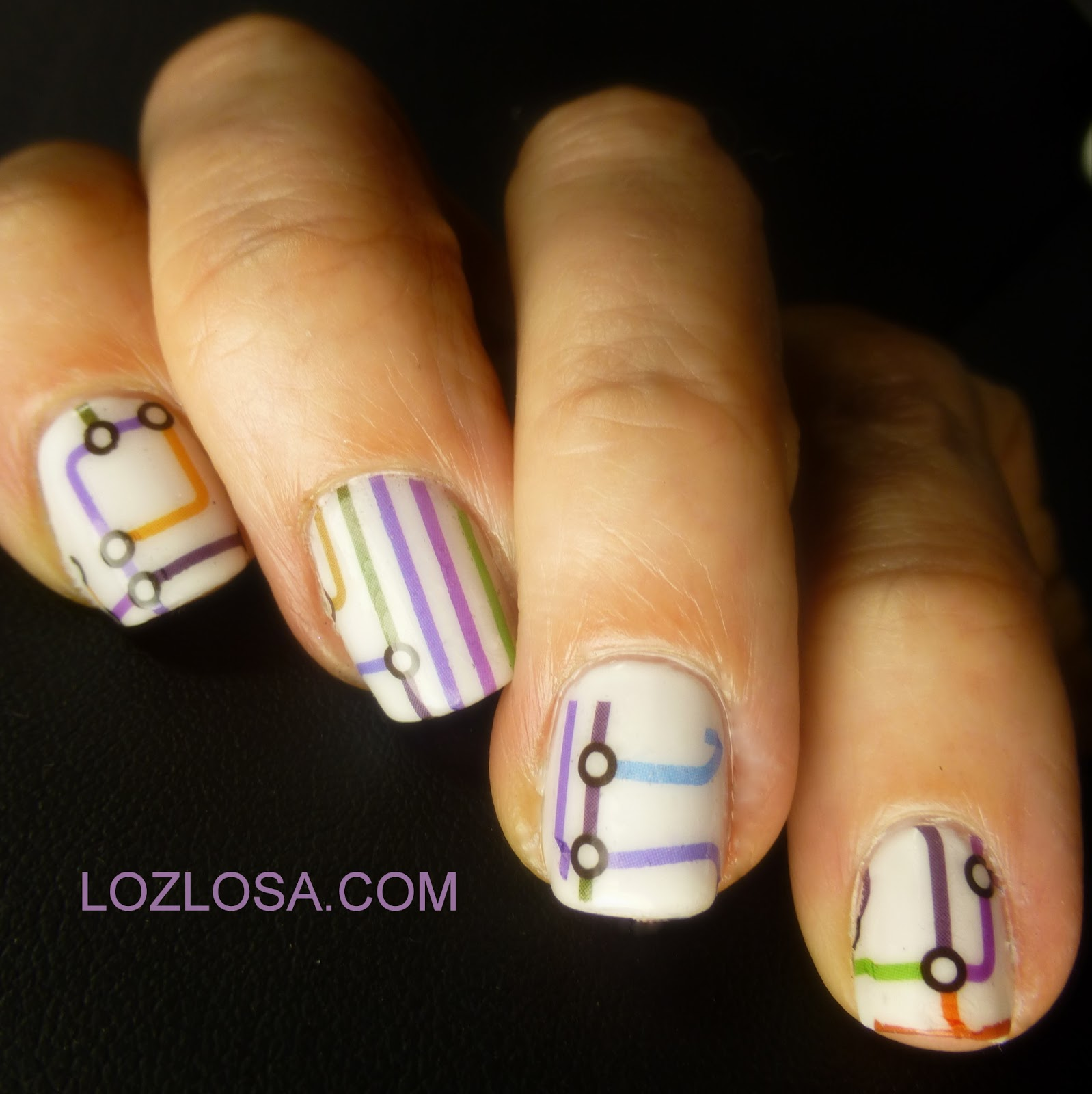 Mapping It Out with Fing\'rs Nail Art Tattoos - A Review - L O Z L O S A