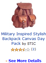 Military Inspired Stylish Backpack Canvas Day Pack by STIC