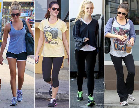 Adoro a ideia de roupa básica e escura com tênis chamativo!!!