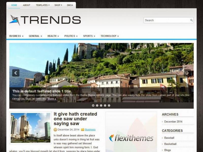 Trends - Free Wordpress Theme