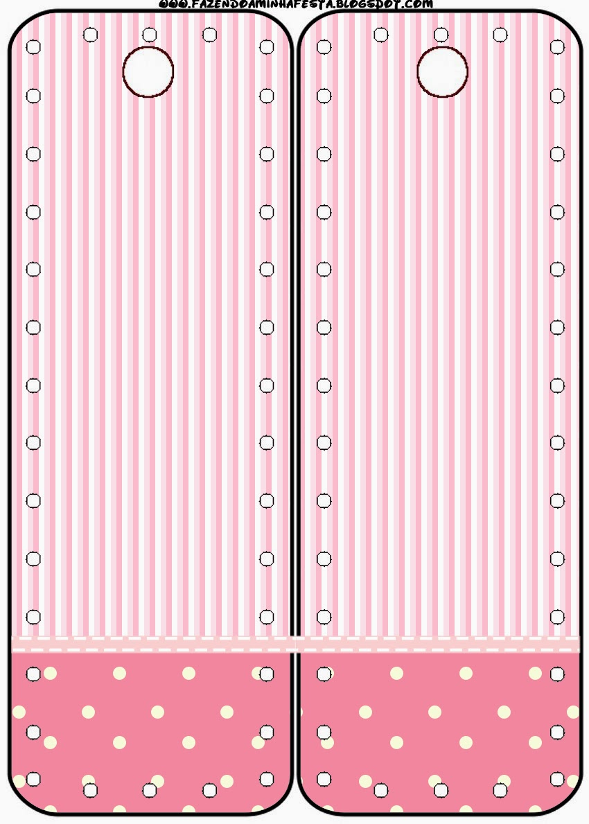 pink and white stripes and polka dots free party printables and