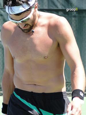 Janko Tipsarevic Shirtless at Cincinnati Open 2010