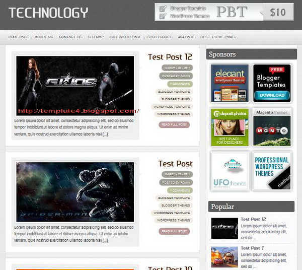 Technology WordPress Theme