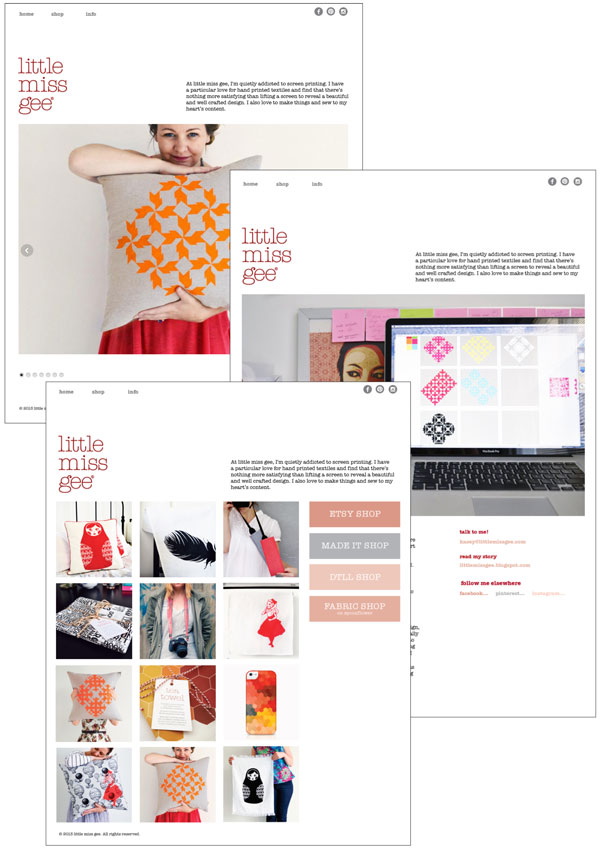 little miss gee webpage design