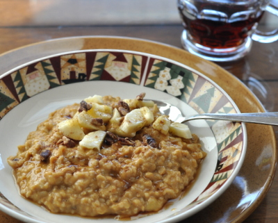 Creamy Pumpkin Steel-Cut Oats, Best Recipes for Everyday 2015 ♥ AVeggieVenture.com.