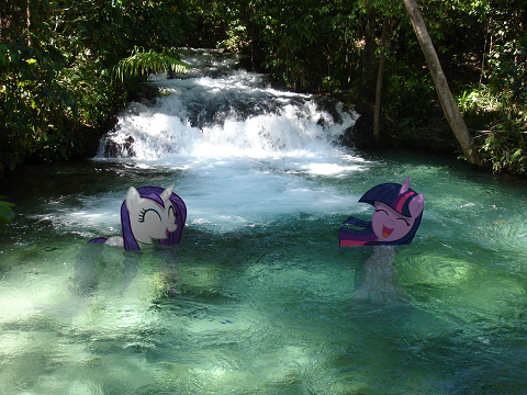 That special place outside of Ponyville where two girls can talk, laugh, swim, and share those secrets no one else can know.