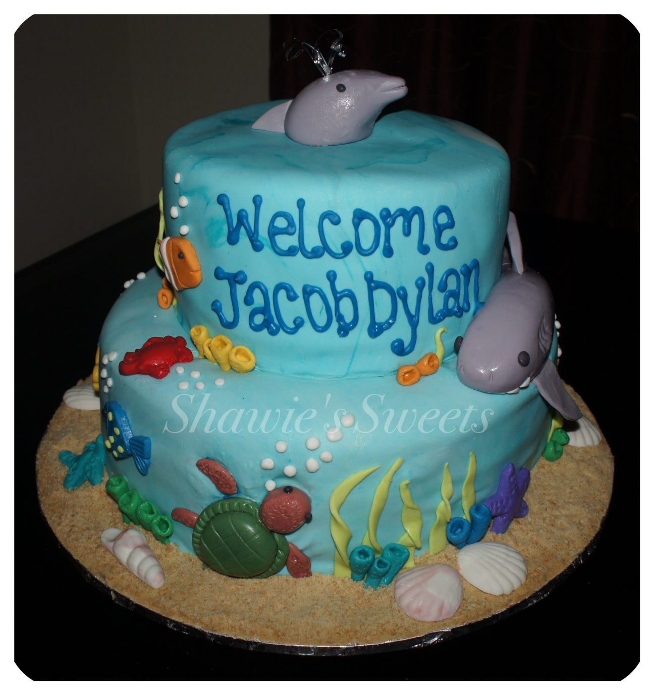Shawies Sweets Under The Sea Baby Shower Cake