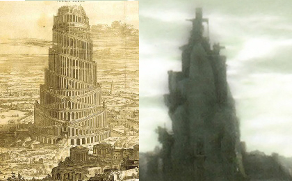 Shadow of the colossus tower of babel temple of worship comparison