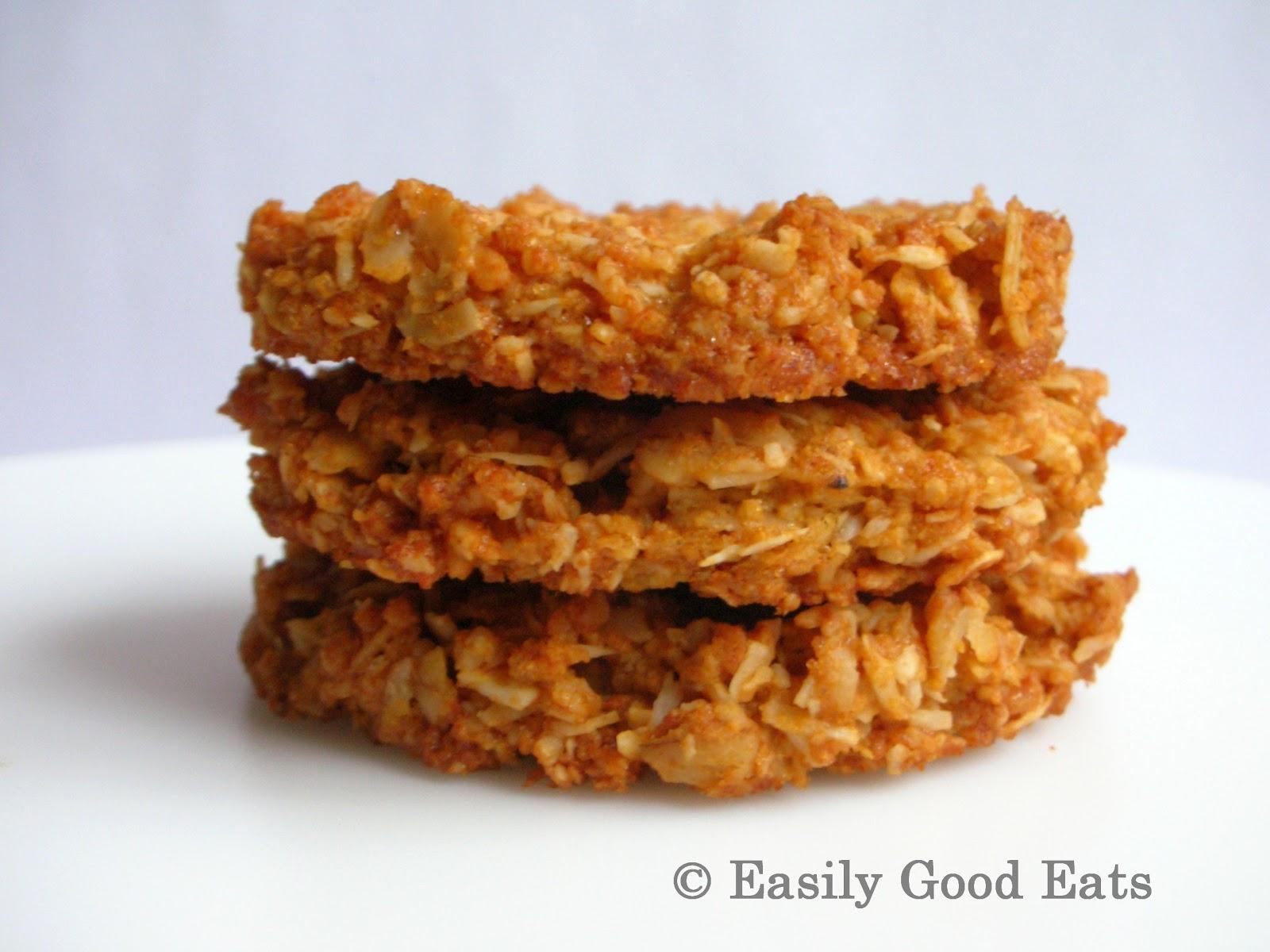 Easily Good Eats: Gluten Free Coconut Oat (ANZAC) Cookies ...