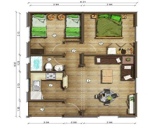 Casas con planos de un piso planos de casas modernas for Apartamentos de 30 metros cuadrados