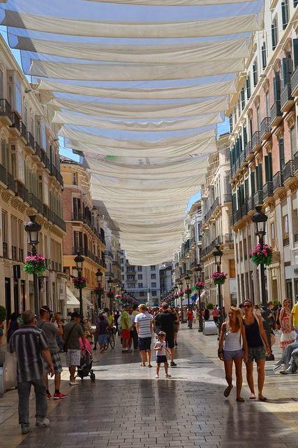 Shopping in Malaga, Spain