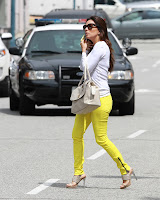 Eva Longoria crossing the street
