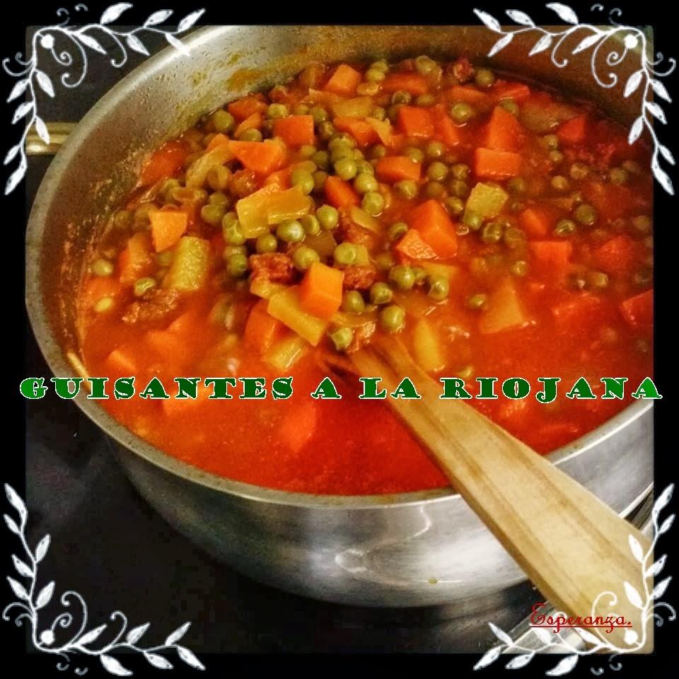 Cachin d esperanza guisantes a la riojana for Cocinar guisantes congelados
