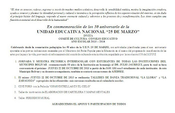 "50 ANIVERSARIO DE LA U.E.N. ""25 DE MARZO"""