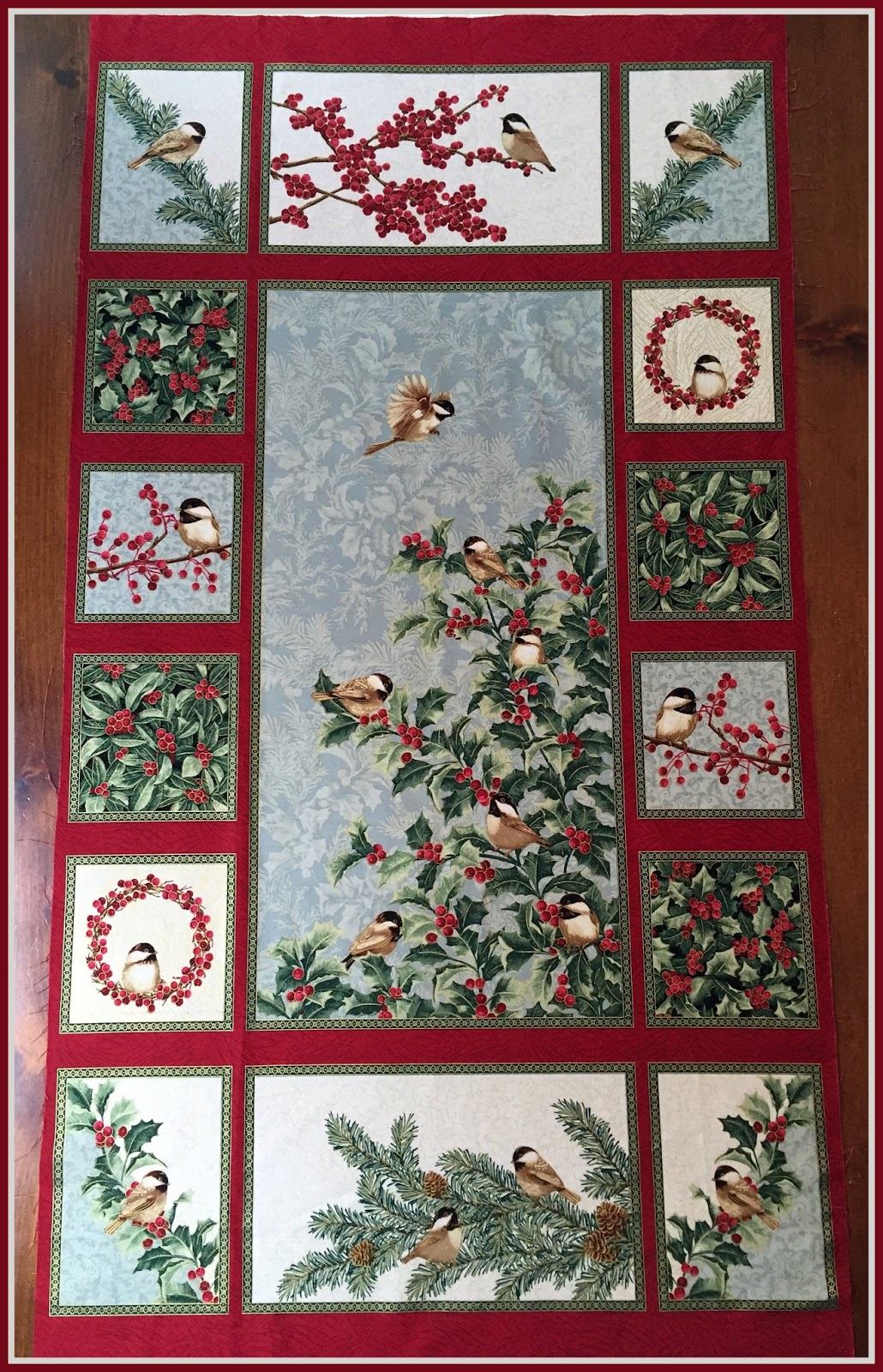 Karen\'s Quilts, Crows and Cardinals: Chickadees and Berries - We ...