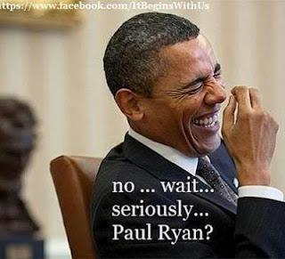 Obama laughs at Republicans