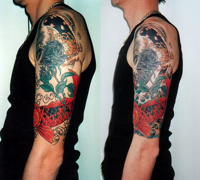 Half Sleeve Tattoo Design Template Men Half Sleeve Tattoo Designs