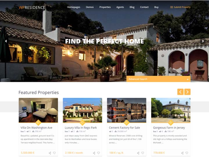 Top 18 Real Estate WordPress Themes For Agencies, Realtors, Property ...