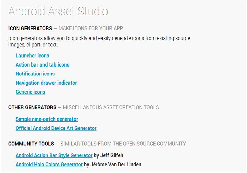 android asset studio