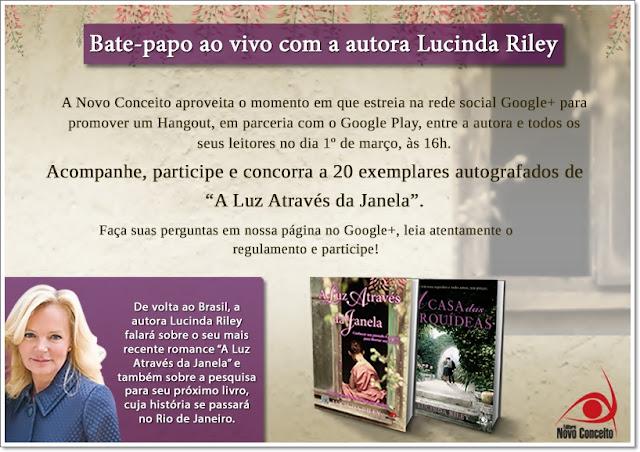 Não Perca: Autora Lucinda Riley vem ao Brasil.