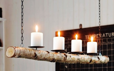 Ma Bicyclette: Design Inspiration | Sticks & Stones - birch wood candle holder Anna Ornberg Furnishing Naturally