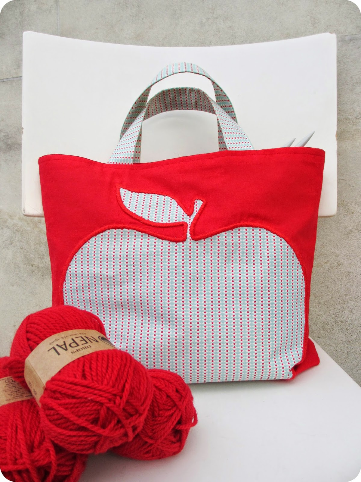 Tadaam diy tuto sac tricot - Tuto sac tricot en tissu ...