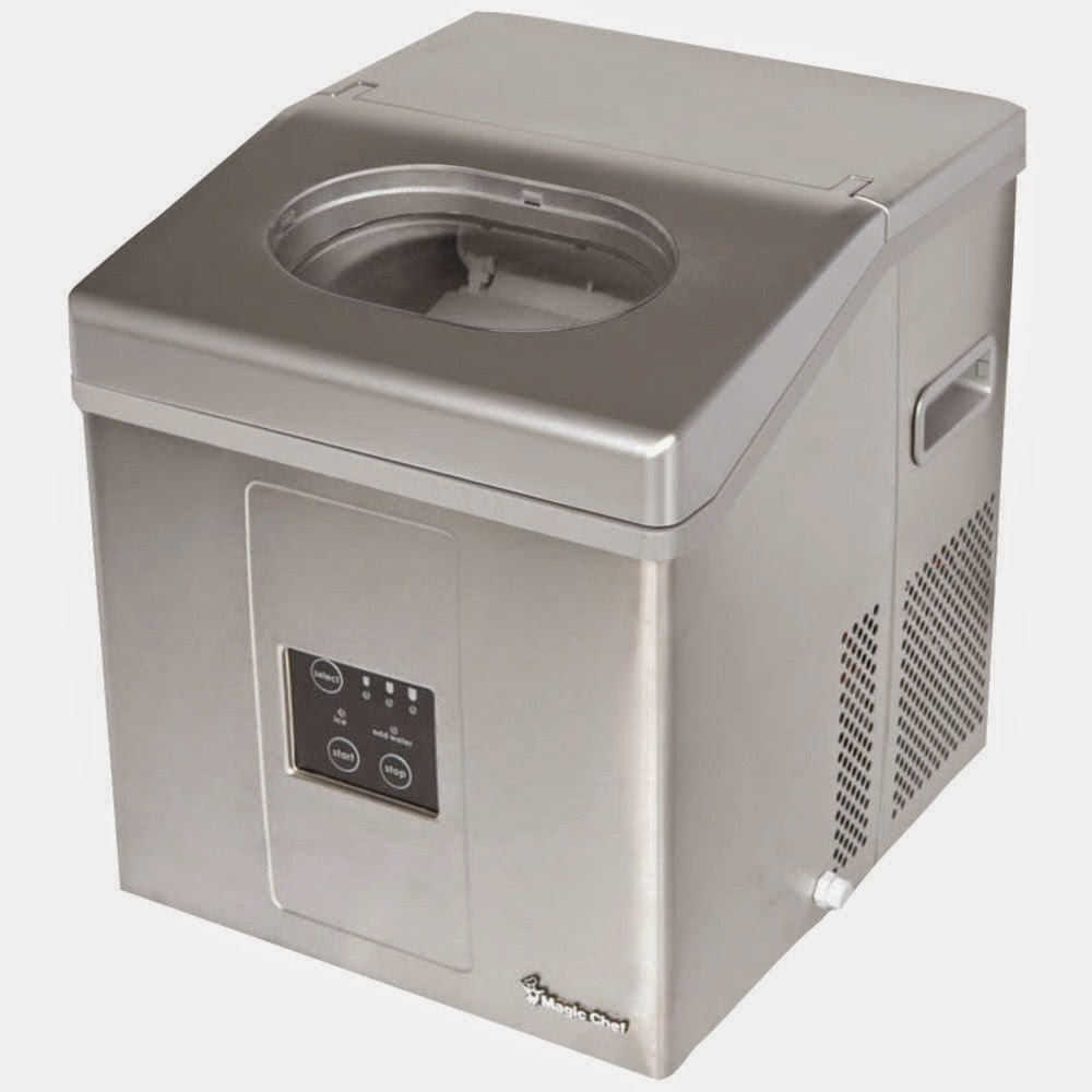Andrew James Compact Countertop Ice Maker : ... pieces of ice per cycle 3 ice cube sizes water ice level indicator