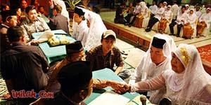 pernikahan massal di istora senayan mendapat rekor dunia