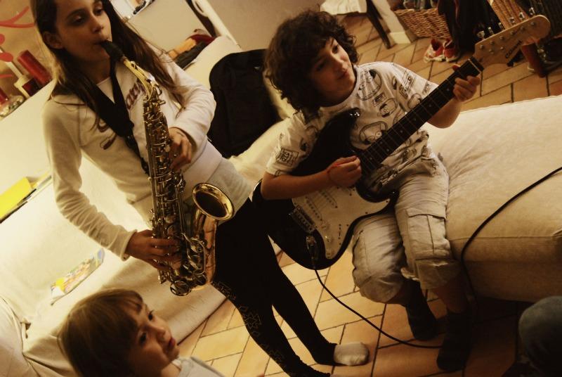 sax chitarra elettrica