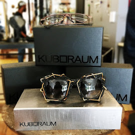 Seriously cool glasses from Kuboraum at their trunk show at Robin Richman